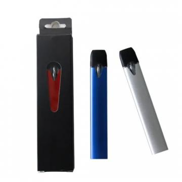 Printed 1.5ml Disposable Vape Pen with Cotton Coil and Custom Clear Acrylic Case